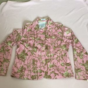 NWT's Floral Jean Style Jacket